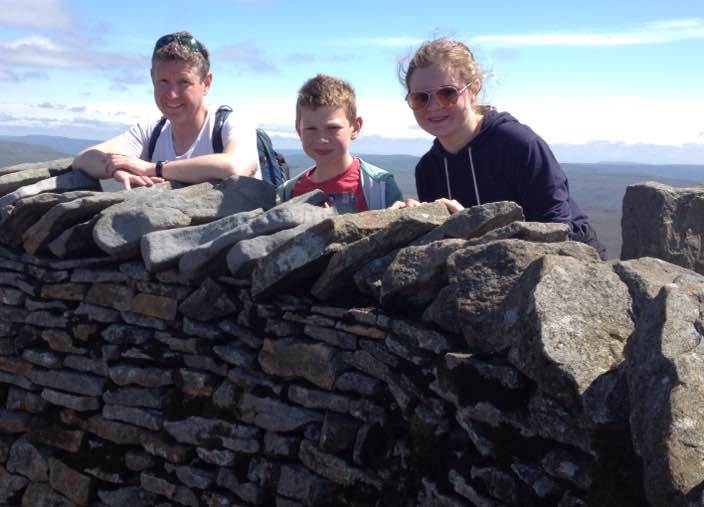 Whernside summit family photo
