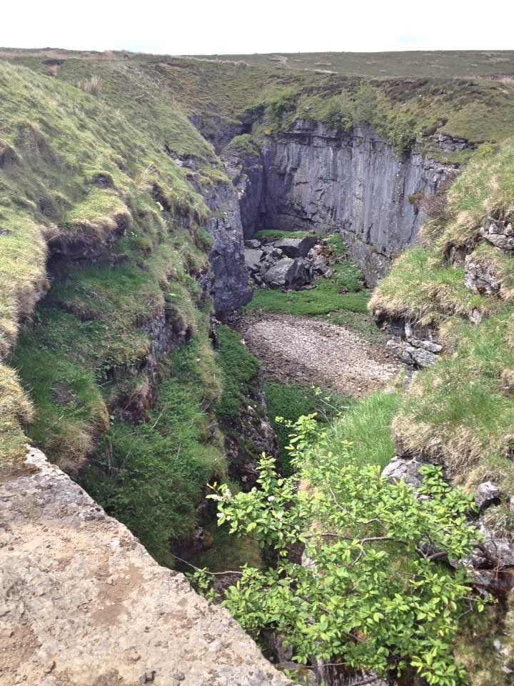 Hull Pot, visited on the descent from Pen-y-Ghent