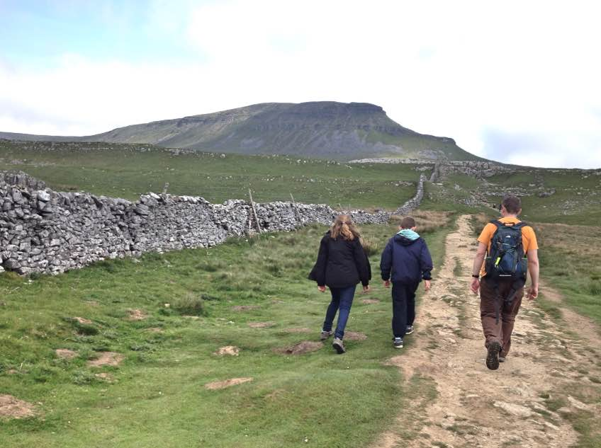 Walking up Pen-y-Ghent