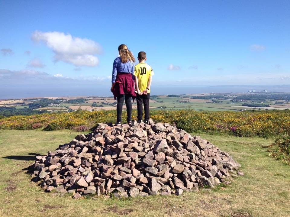 On top of Woodland Hill, Quantock Hills