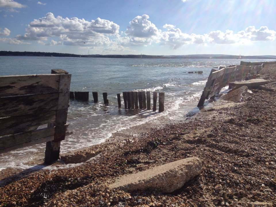 View from Lepe Country Park over the Solent
