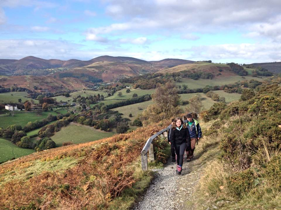 Walking up to Castell Dinas Bran (Crow Castle), Llangollen