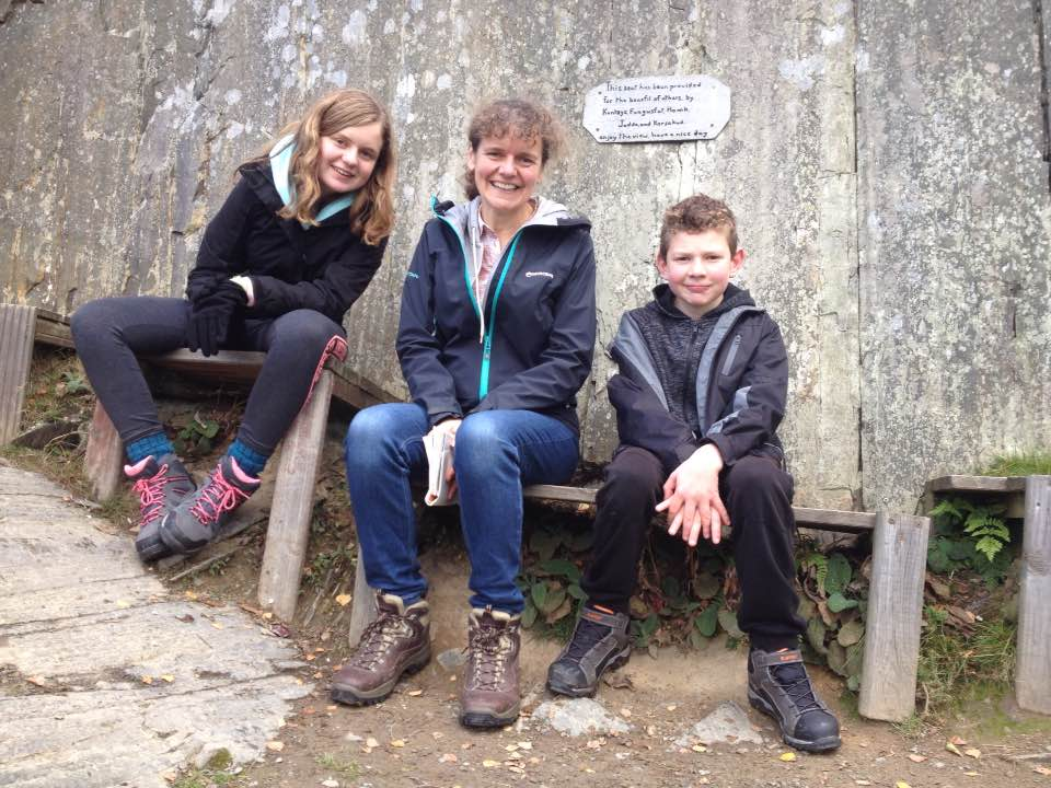 Taking a break on the Clwydian Way