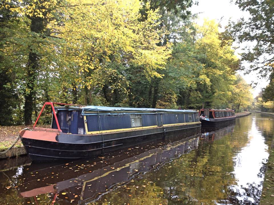 Autumn on the Llangollen canal