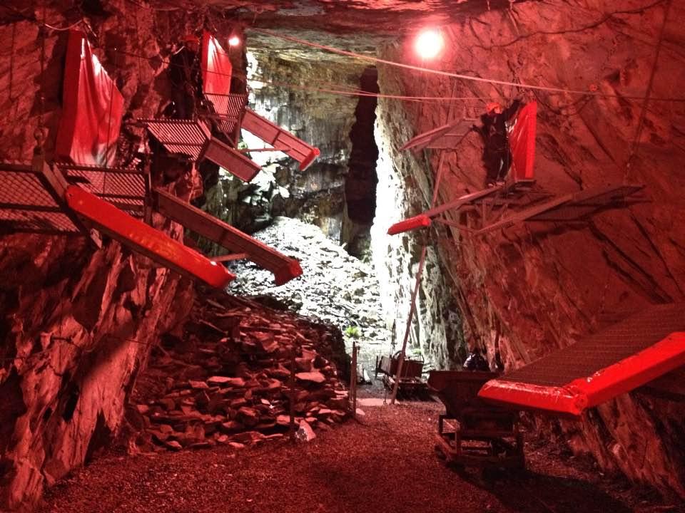 Indoor training area at Zip World Caverns