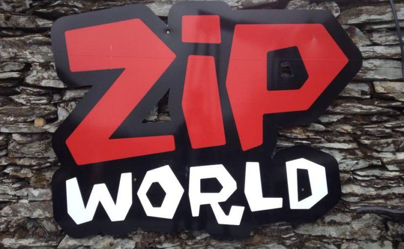 Scaring myself at Zip World caverns, Blaenau Ffestiniog, Gwynedd