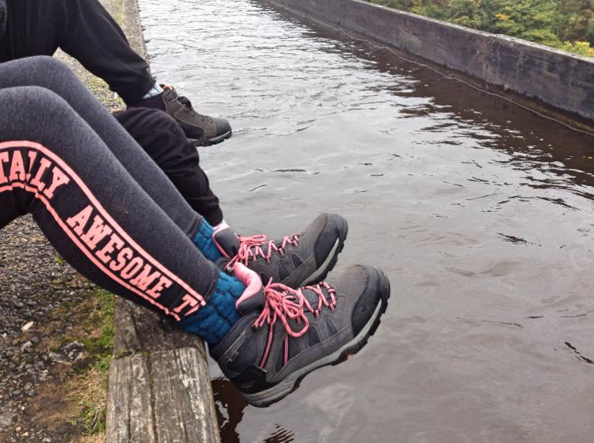 Hi-tec boots beside the Llangollen canal
