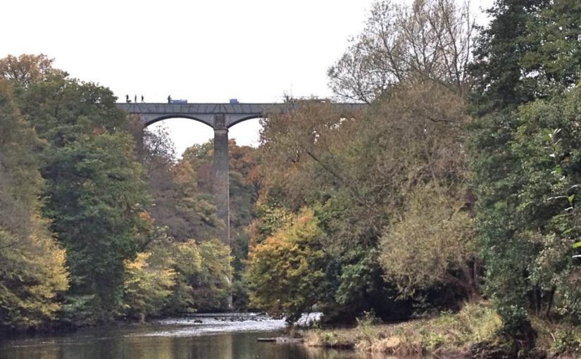 Crossing the Pontcysyllte Aqueduct, Wrexham