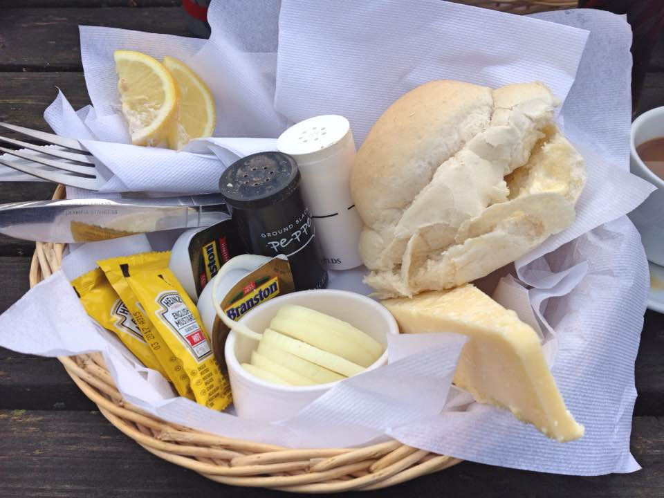 Cheese and onion roll, The Bell Inn, Aldworth