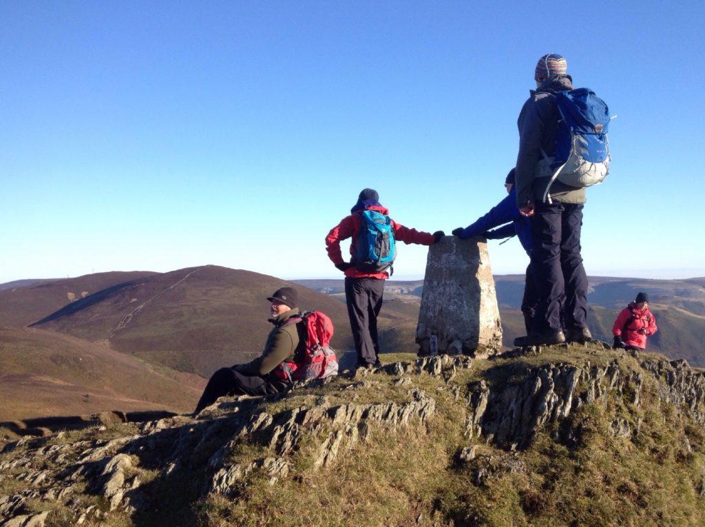 Moel Morfydd summit (Llantysilio mountain)