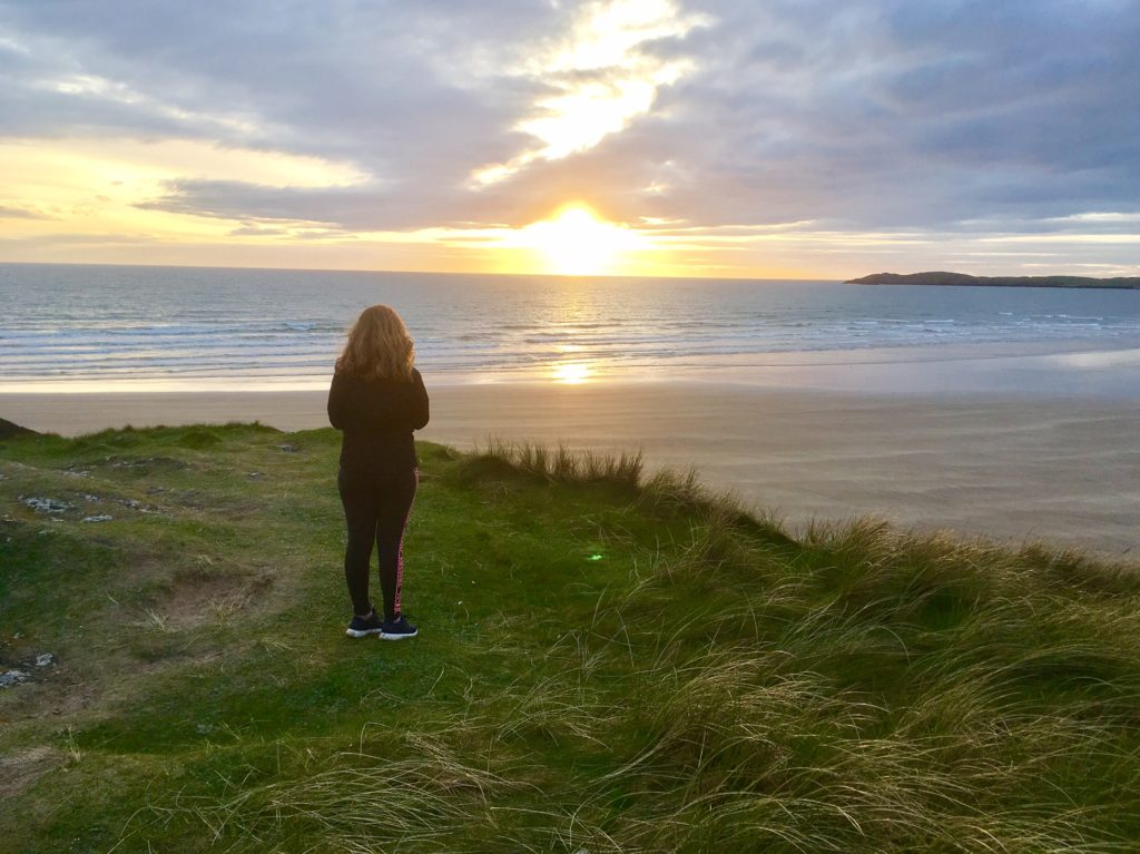 Watching the sunset from Llanddwyn island