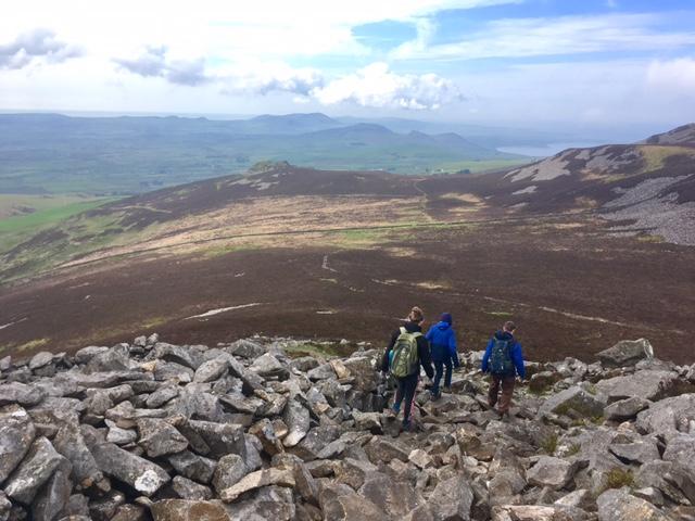 Descending Mynydd y Ceiri