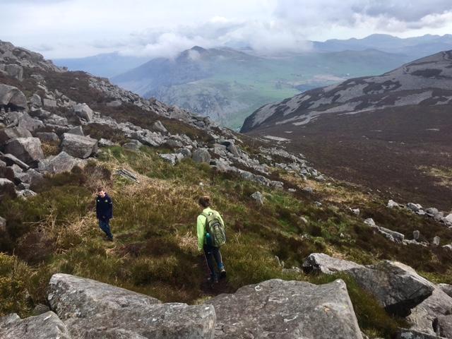 Descending Yr Eifl towards Mynydd y Ceiri