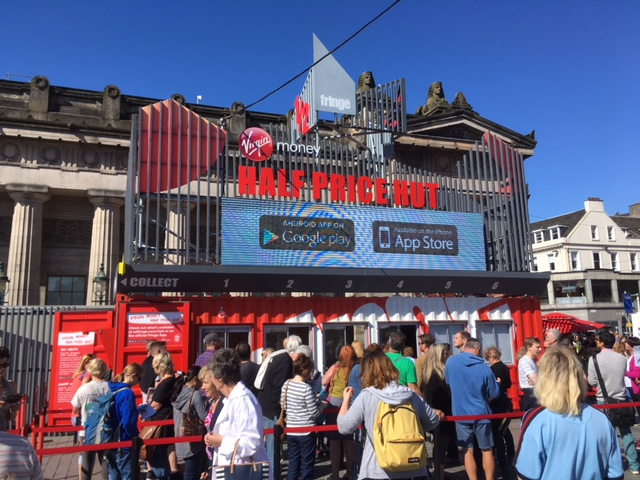 Half price hut, Edinburgh Fringe