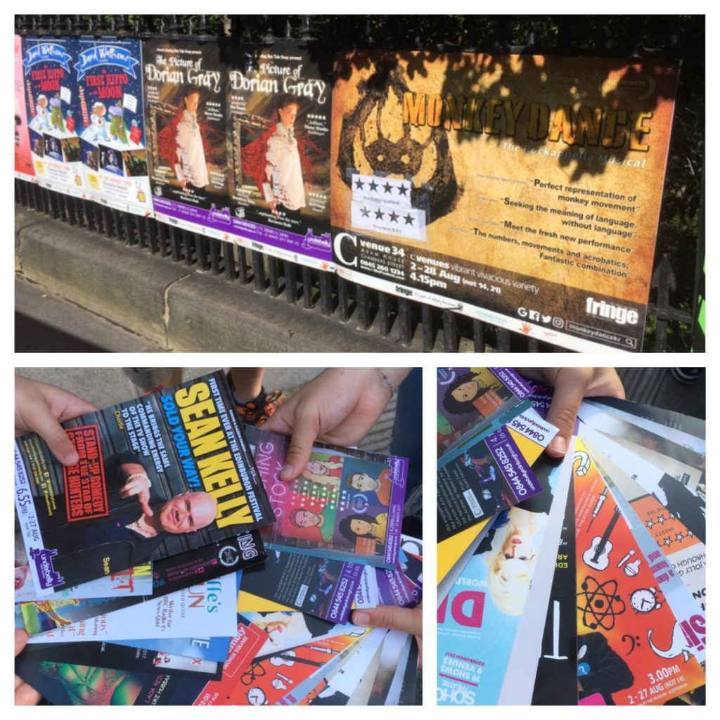 Edinburgh Fringe show flyers