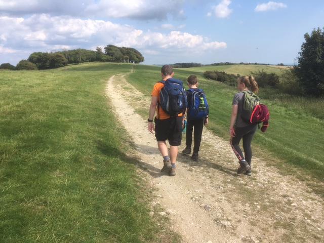 Walking towards Chactonbury Ring