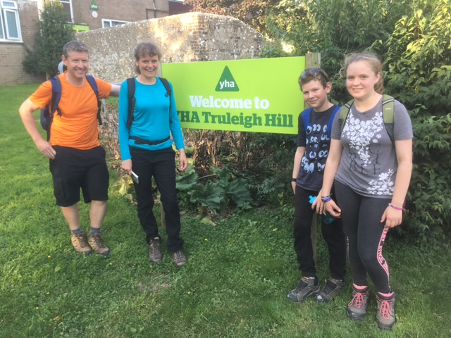 Arriving at Truleigh Hill YHA
