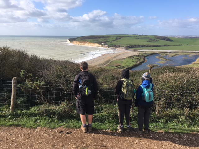 Overlooking Cuckmere Haven
