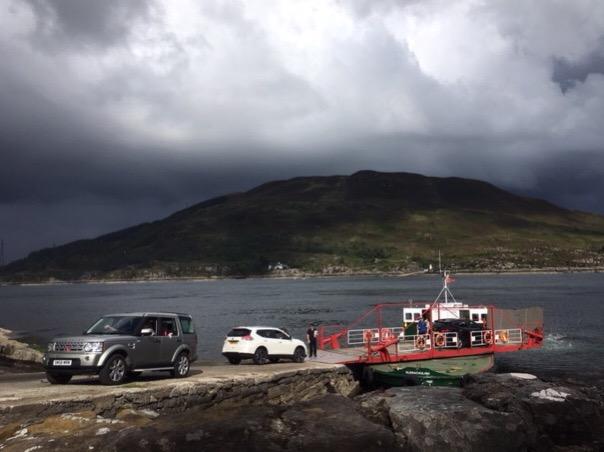 Glenelg ferry arriving in Skye