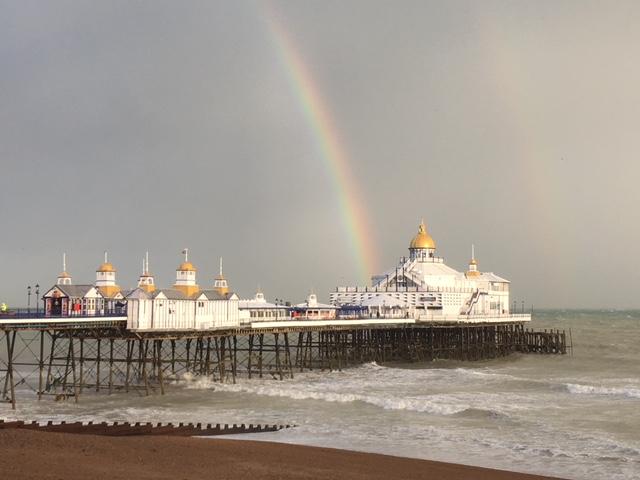 Rainbow over Eastbourne Pier