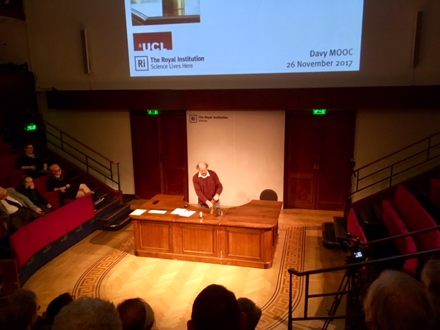 Professor Frank James at the Royal Institution