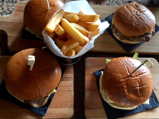 Burgers at the Barn cafe, Turville Heath