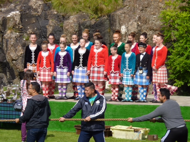 Dancers - and tug of war - at Skye Highland Games