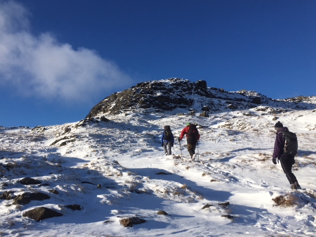 Heading to the summit of Sergeant Man, Lake District