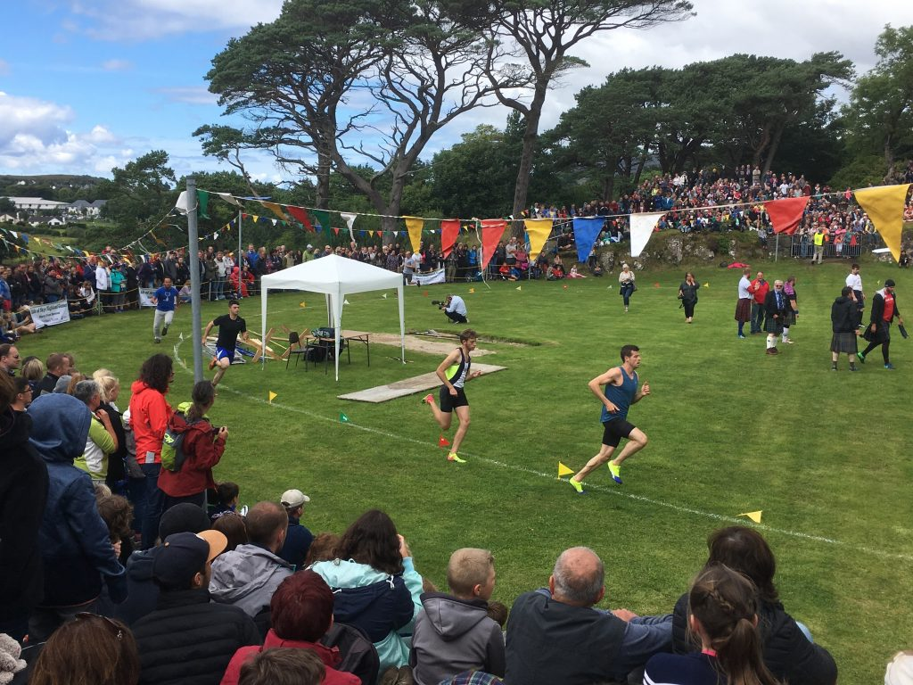 Men's track event, Skye Highland Games