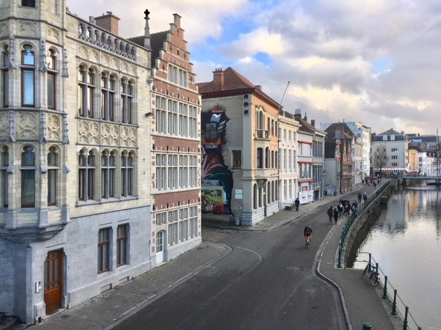 View from St Michael's Bridge, Ghent