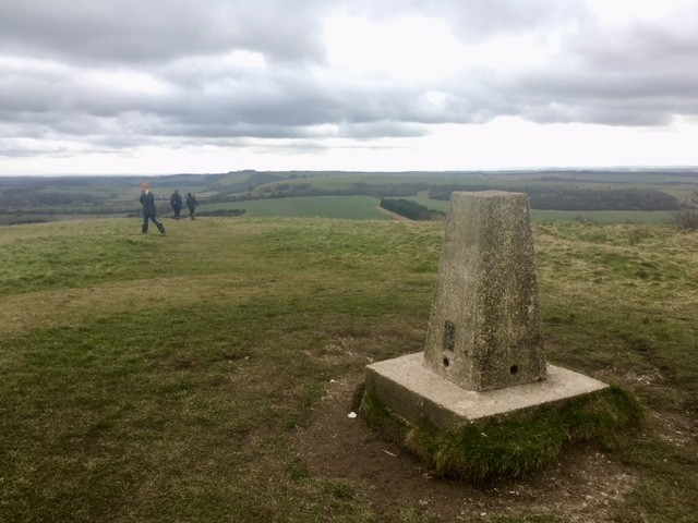 Trig point on Beacon Hill, Berkshire