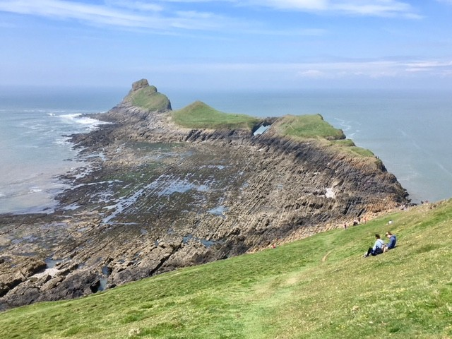 View across Worm's Head, near Rhossili