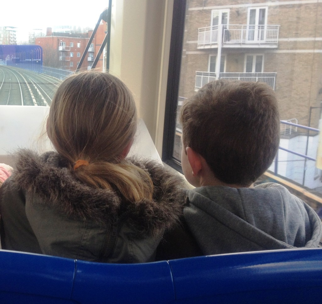 Front seat on the Docklands Light Railway