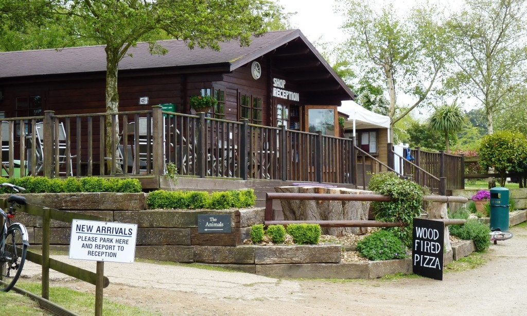 Reception and shop at Fauxquets Valley campsite