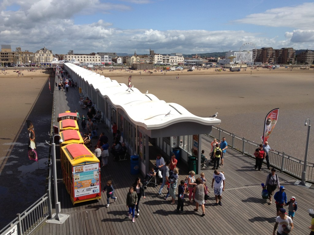 Looking back down the Grand Pier, Weston-super-Mare