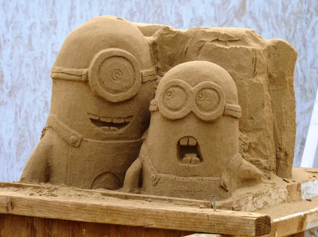 Minions at Weston sand sculpture festival