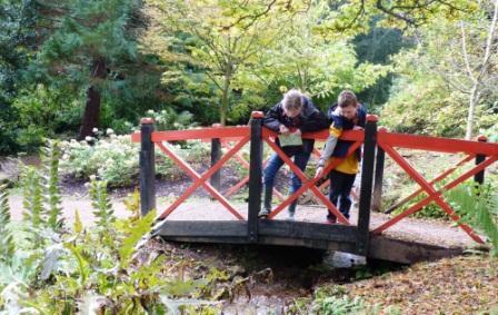 Pooh sticks at Batsford Arboretum