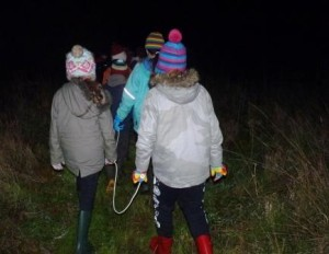 Setting off on the night walk
