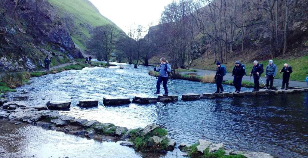 Stepping stones over the River Dove