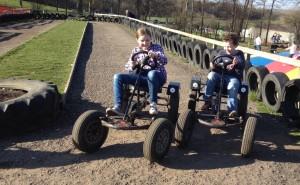 Pedal go-karts at Bucklebury Farm Park