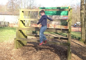 Woody's Leap obstacle course