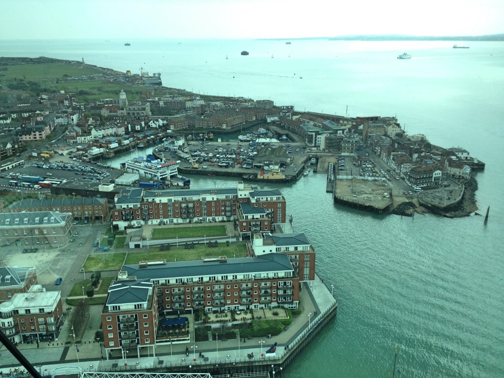 From View Deck 1, Spinnaker Tower