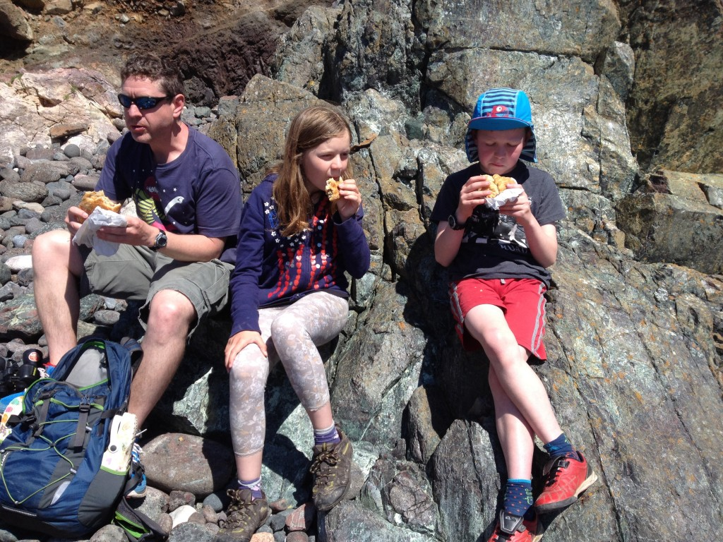 Pasties on the beach, Lizard Peninsula
