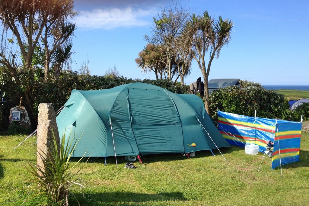 Our pitch at Henry's campsite
