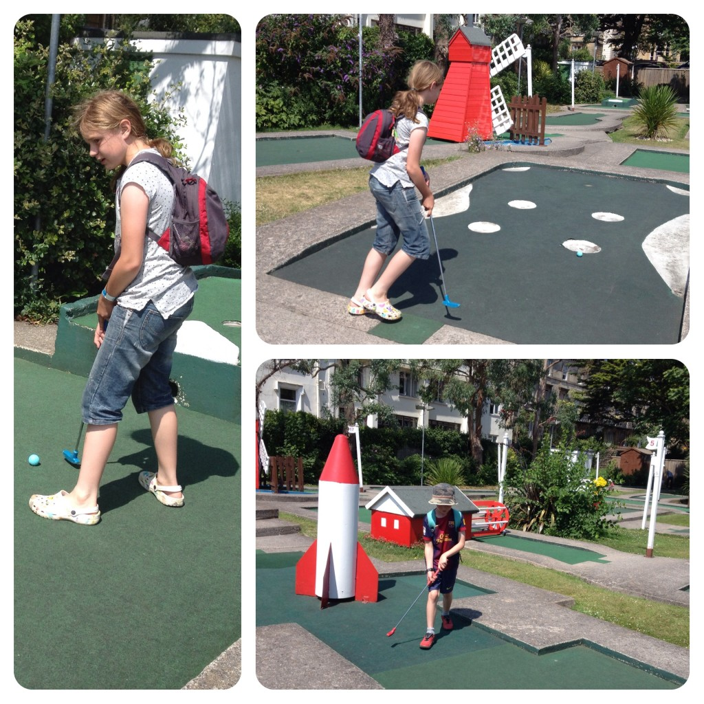 Crazy golf course in Weston