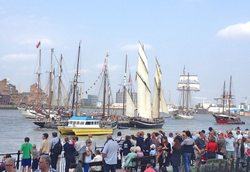 Viewing the tall ships at Greenwich