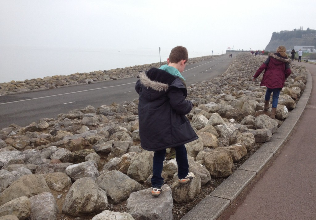 Walking out along Cardiff Bay Barrage