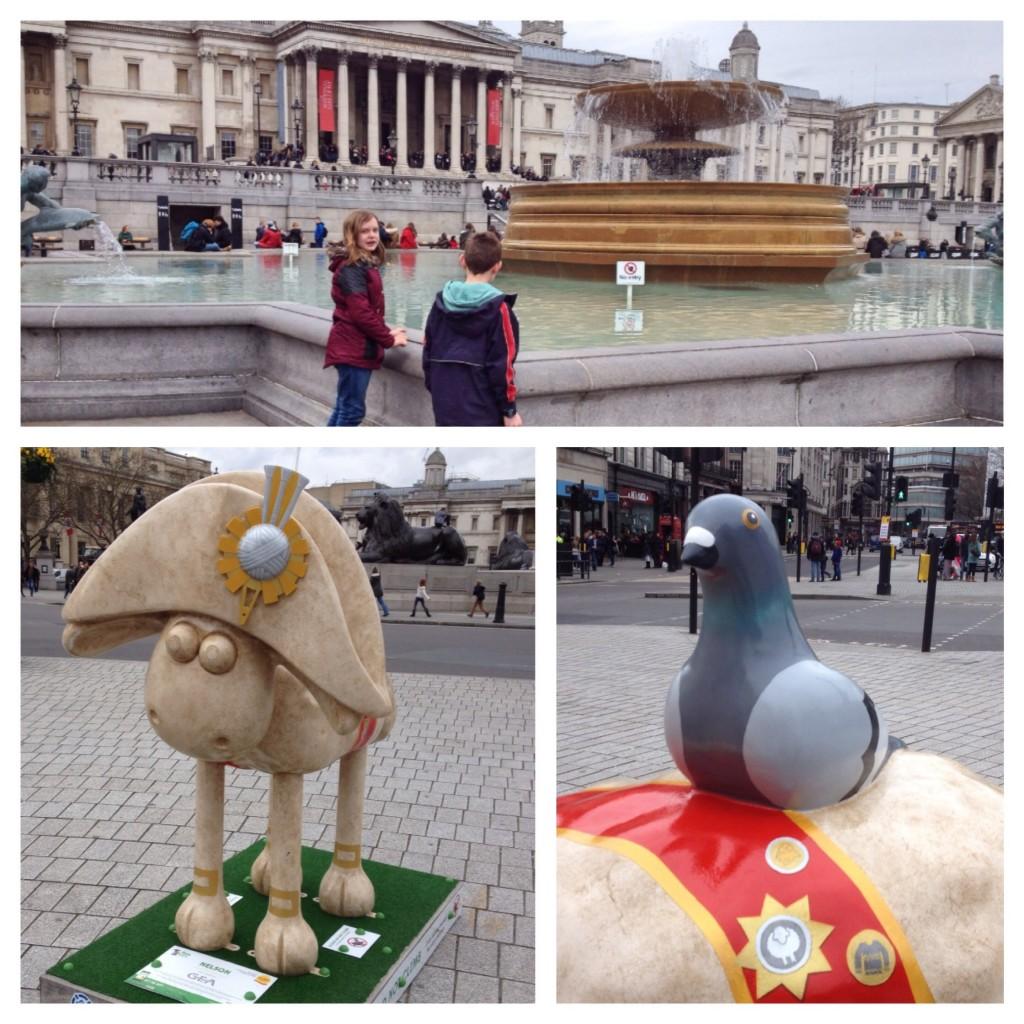 Trafalgar Square Shaun the sheep