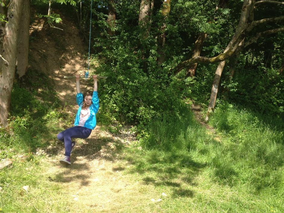 Denfurlong Farm campsite rope swing