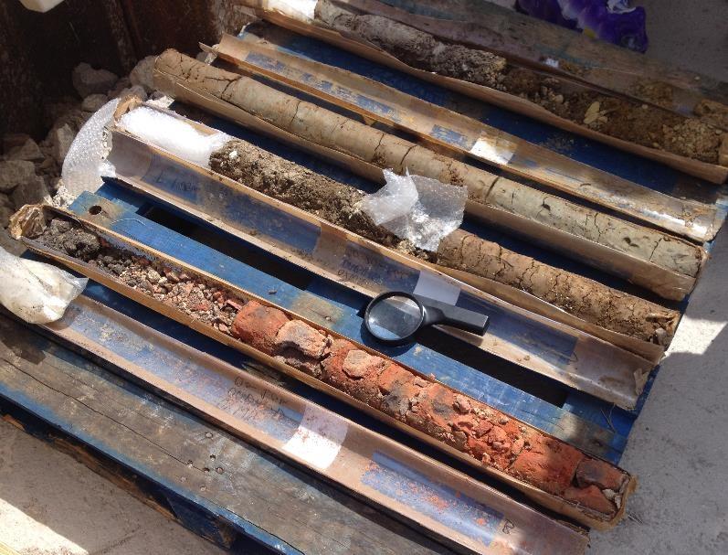 Core samples, Westgate dig, Oxford